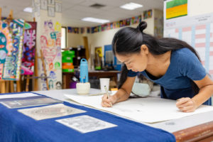 japanese artist working in british international school phuket